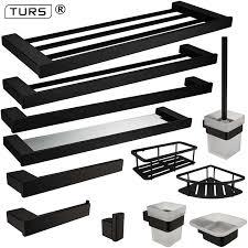 New SUS <b>304</b> Stainless Steel <b>Bathroom Hardware Set</b> Black Matte ...