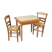Table Rustique De Cuisine Pieds Tournés Carrelée Avec Tiroir Et Allonge