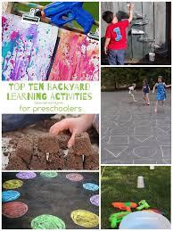 outdoor activities for preschoolers. 10 Backyard Learning Activities For Preschoolers Outdoor G