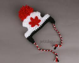 Crochet Dog Hat Pattern Beauteous Crochet Canada Maple Leaf Dog Hat Proudly Canadian Pet It Dog Apparel