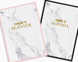 Personalized Planner Cover Printable Marble Custom Binder