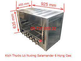 lò nướng salamander 6 họng gas   bếp nướng thịt bằng gas nhà hàng