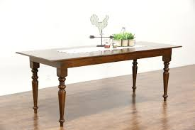 turned leg dining table. Country Pine Vintage Farmhouse Dining Table, Turned Legs, Leg Table