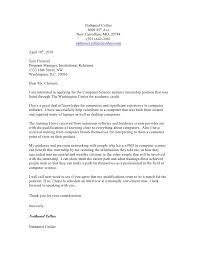 Cover Letter Computer Science Student Adriangatton Com