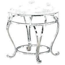 vanities white leather vanity stool bench seat round ottoman chrome benc white leather vanity stool