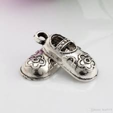 antique silver zinc alloy baby shoes charms pendants 21x9mm diy jewelry a 058 from bead118 22 34 dhgate com