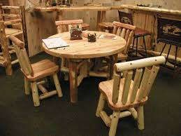 ... Round Rustic Dining Room Tables ...