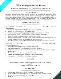 Resume For Office Manager Position Sample Resume Office Assistant Job Free Download Administrative