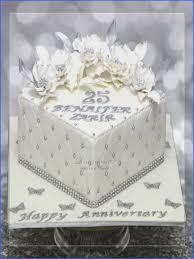 25th Wedding Anniversary Cake Topper Photos Cake Decorating