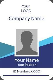 Id Card Templates Free Id Card Twelve Front Id Card Template Identity Card