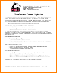 13 Resume Career Objective Examples Letter Of Apeal
