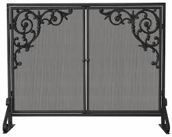 1 panel olde world iron fireplace screen