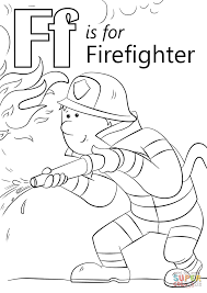 Small Picture Letter F is for Firefighter coloring page Free Printable