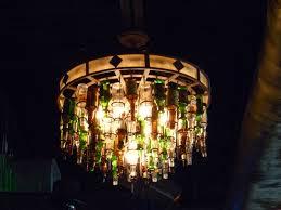 image of made beer bottle chandelier