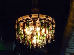 made beer bottle chandelier