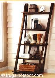 furniture ladder shelves. bayside furnishings ladder bookcase costco frugalhotspot furniture shelves