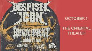Ticket Giveaway: <b>Despised Icon @ The</b> Oriental Theater, 10/1/19 ...