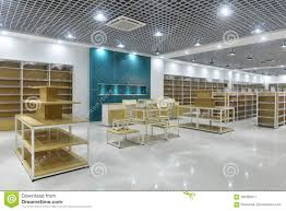 Ceiling Interior Design For Shop Empty Store Interior Of Supermarket Stock Image Image Of