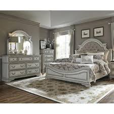 antique white furniture. Magnolia Manor Antique White Upholstered King Bedroom Set Weekends Only Furniture In