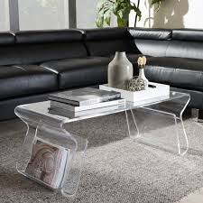 baxton studio susan clear finished plastic coffee table