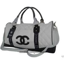 chanel bags black and white. chanel travel bags dark white black cc logo [chanel-travel-bags-dark and
