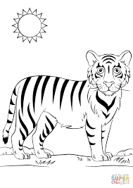 Small Picture Cartoon Tiger coloring page Free Printable Coloring Pages