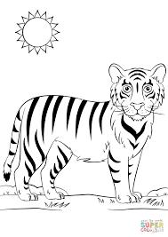 Disegno Di Tigre Cartone Animato Da Colorare Disegni Da Colorare E