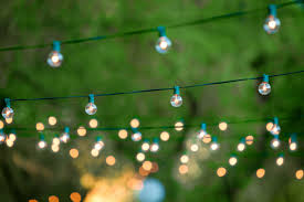 image of nice outdoor party lights