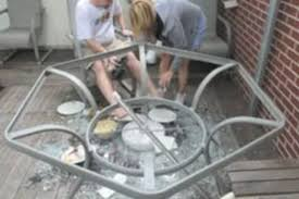 just ask the poor colorado woman whose martha stewart living glass top patio table which she bought from kmart