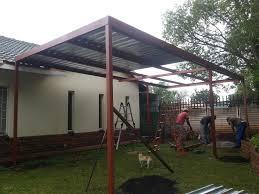 flat roof metal carport