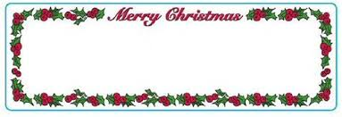 Merry Christmas Address Labels 1 Roll 130 Labels Per Roll Dymo Compatible