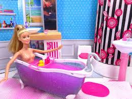barbie glam bathroom barbie doll pink bath bomb with ken barbie baby toys youtube barbie doll