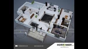 3d home plan 2800 sq ft 2bhk floor plan