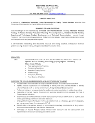 Medical Lab Technician Resume Sample For Entry Level Laboratory