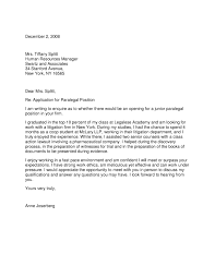 Sample Cover Letter For Paralegal Leading Professional Paralegal