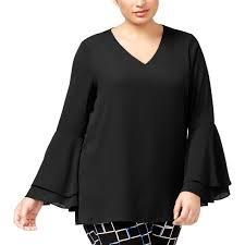 Alfani Plus Size Ruffled Blouse Blouses Tunics Apparel