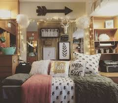 college bedroom.  College College Dorm Room Ideas  Inspiration For College Girls Rooms Pink Grey  Cute Lights Arrow Chic In Bedroom Pinterest