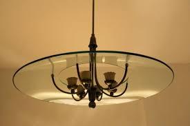 vintage italian brass glass chandelier 1950s 3