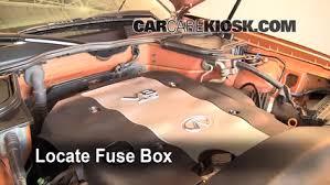 replace a fuse 2003 2008 infiniti fx35 2006 infiniti fx35 3 5l v6 locate engine fuse box and remove cover