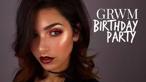 grwm birthday party makeup tutorial