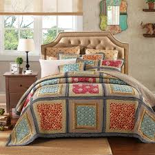 Amazon.com: Dada Bedding Collection Reversible Bohemian Real ... & Amazon.com: Dada Bedding Collection Reversible Bohemian Real Patchwork  Gallery of Roses Cotton Quilt Bedspread Set, Multi-Colored, King, 3-Pieces:  Home & ... Adamdwight.com