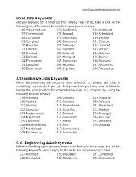 Resume Keywords Stunning Resume Keywords List Job Keywords Resume Keywords List Pdf Esdcubaco