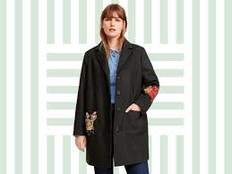 mango black wool coat with embroidered detail winter coat gallery