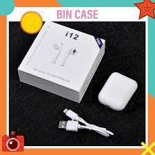 Tai Nghe Bluetooth i12 TWS Tai Nghe Không Dây Cảm Ứng Vân Tay 1 Chạm -  Chống Ồn - Bảo Hành 1 Đổi 1 - khuyến mãi giá rẻ chỉ: 50.000 đ