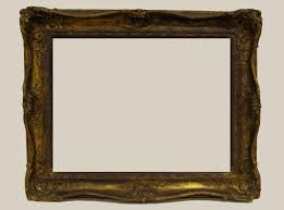 antique frame before restoration