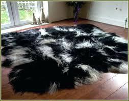 black fur rug s furry area 5x7 black fur rug