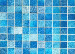 Blue Tiled Bathrooms Blue Tiles In Bathroom With Water Drops Stock Photo Picture And