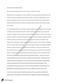 wilfred owen sample band essay year hsc english standard  3 exchange credits