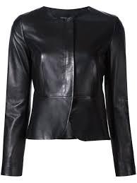 Derek Lam Collarless Fitted Jacket Black Women Clothing