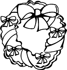Small Picture Holiday Wreath Coloring Book Page Christmas wreath coloring page